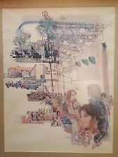 Wright State University Framed Lobby Office Artwork Allyn Millett Montage 1974