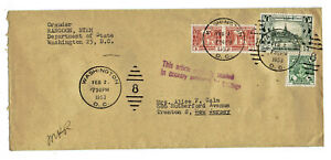 Cover from Rangoon Burma with Scott 103 105 109 stamp 1953 Diplomatic Pouch post