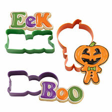 Halloween Trick or Treat Metal Cookie Cutter Set 3 pc from Wilton 5083 - NEW