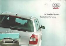 AUDI A4  Betriebsanleitung 2002  B6 Bedienungsanleitung Bordbuch Handbuch BA