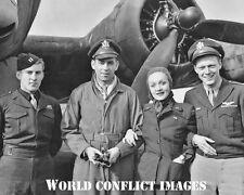 USAAF WW2 B-17 Actress Marlene Dietrich USO Show 8x10 Photo 401st BG New Release