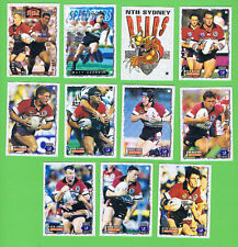 1995 SERIES 2 NORTH SYDNEY BEARS  RUGBY LEAGUE CARDS