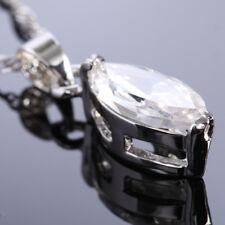 Wedding Jewelry Marquise Cut White Topaz White Gold Gp Pendant Free Necklace