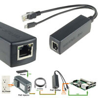 Active PoE Splitter Power Over Ethernet 48V to 5V 2A Micro USB Adapter 10WWTDE