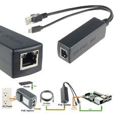 Active PoE Splitter Power Over Ethernet 48V to 5V 2A Micro USB Adapter 10DDA