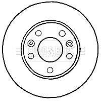 CAPSautomotive Pair Brake Disc Rotors for Renault 402064151 402064151R 402060010