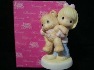 Precious Moments-Girl w/Huge Teddy Bear-My Love For You