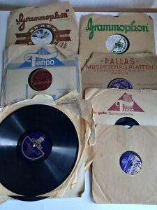 Konvolut alte Schellack Schallplatten