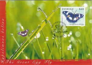 Hypolimnas Bolina Butterfly Sweden Mint Maxi FDC Card 1999