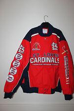 New MLB St. Louis Cardinals Champions NASCAR style twill cotton jacket men's 3XL