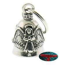 Biker Motorrad Guardian Bell Glocke Glücksbringer - ANGEL WING Key Ring Anhänger