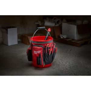 10 in. Organizer Bucket Tool Bag Zipper Pocket Handle Handyman Construction NEW