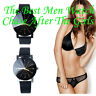 Luxury Womens Mens Watch Quartz Big Dial Leather Wrist Watch Couple Watches GIFT