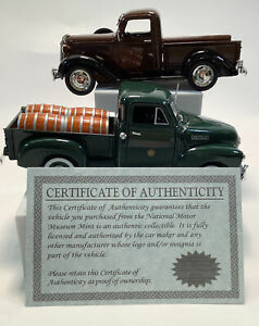 Lot of 2 Vintage Trucks of Yesteryear- 1937 Plymouth And 1950 Chevy 1/32 Scale