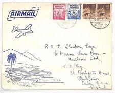 AL39 1951 INDONESIA Bandung to GB Airmail cover {samwells-covers}
