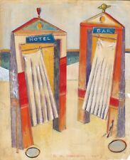 """Dimitris C. Milionis """"HOTEL & BAR"""" Pencil Drawing Transparent Paper 2003 Greek"""