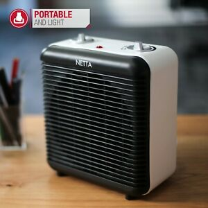 Black 2000W Electric Cold And Hot Air Fan Heater Grade B Used