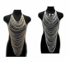 UK Women Harness Crossover Body Chain Necklace Party