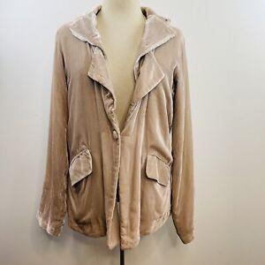 Flannel Size 3 12-14 Blush Velvet Jacket Silk Blazer Luxury Australian Designer