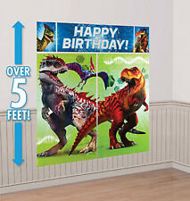 DINOSAURS Scene Setter HAPPY BIRTHDAY party dinos wall decor Jurrasic World Park