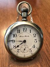 1900 Hampden New Railway 23 Jewel Gold Setting Pocket Watch DUEBER Case