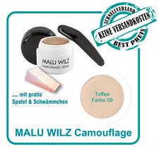 Camouflage Cream Farb No. 08 von Malu Wilz mit Spatel und Schwämmchen