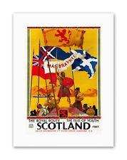Scotland Flags Wallace Vintage Travel Canvas Art Prints