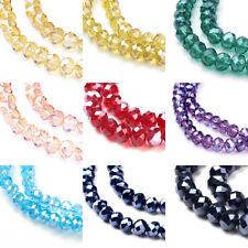 10 Strds Faceted Glass Beads Rondelle Glossy Tiny Loose Beads 4mm 6mm 8mm 10mm
