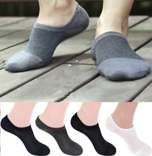 Men Bamboo Invisible Loafer Ankle Socks Low Cut Casual Loafer No Show Boat Socks