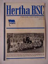 Hertha BSC Presse Information 1971 1972 Buch Heft