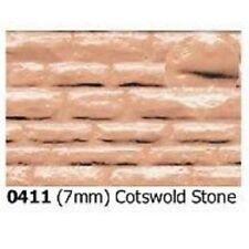 Slaters Embossed Plastikard No.0411 1:43 Cotsw'd Stone