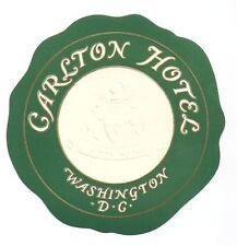Carlton Hotel Washington DC Luggage Label Gold Embossed Fine