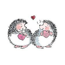 PENNY BLACK RUBBER STAMP HEDGEHOGS BRUSH WITH LOVE