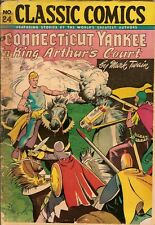 Classic Comics #24. Connecticut Yankee in King Arthur's Court Second Edition VG!