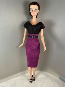 Silkstone Barbie Classic 50's Style Mod Print Dress and Belt by Solveig