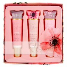 Lovely 3 Pack Pink Cashmere Lip Gloss Gift Set Vanilla, Strawberry & Cherry