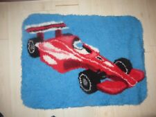 blue formula 1 one sports car rug mat bedroom boys 40 inches rubber backed child