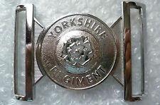 1st 2nd & 3rd Bns Yorkshire Regiment Stable Chrome Belt Plates maker Hobson & So