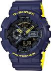Casio GA110LN-2A G-Shock Alarm Chronograph Men's Watch - BLUE YELLOW