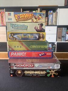 Bulk Board Games Splendor Monopoly Lego Scrabble Panic! Rocketville Buckaroo