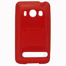 For HTC EVO 4G Hard FLEXI TPU Candy Skin Case Phone Cover Red
