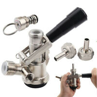 S Type Stainless Steel Brewing Beer Keg Coupler Draft Dispenser W/ Safety Valve