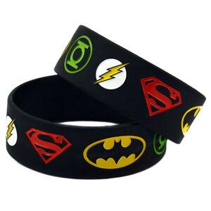 CLEARANCE!!!  Latest Silicon Superhero bracelet Children Kids Wristbands Bands