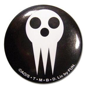 **Legit** Soul Eater Anime Shinigami Skull Logo 1.25'' Authentic Button #16037