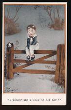 Artist FRED SPURGIN Children Romance Comic Quaint Kiddies #268 PPC 1913