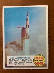 Topps 1970 Man on the Moon #72 Apollo 11 liftoff! VG condition