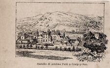 Stampa antica CRAIG-Y-NOS castello di Adelina Patti Regno Unito 1897 Old Print