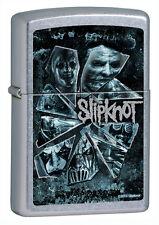 Zippo Slipknot Blue Logo Music Heavy Metal Street Chrome Windproof Lighter 28992