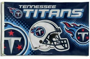 TENNESSEE TITANS FLAG 3'X5' LOGO 3X5 BANNER NEW FAST FREE SHIPPING.