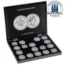 Leuchtturm 348034 Münzkassette für 20 Münzen Silber Maple Leaf in Kapseln
